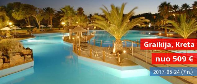 Pasimėgaukite Kretos salos poilsiniais turtais! Savaitė labai gerame 5* viešbutyje su pusryčiais ir vakarienėmis - tik nuo 509 EUR! Kelionės data: 2017 m. gegužės 28 d.