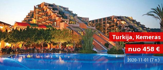 """Atsipalaiduokite nuo visų rūpesčių: puikiai apgalvotos atostogos TURKIJOJE! Savaitė su šeima labai gerame viešbutyje su """"ultra viskas įskaičiuota"""" - nuo 505 EUR! Kelionės data: 2017 m. gegužės 25 d."""