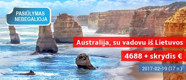 Įsimintina egzotinė kelionė į KONTRASTINGĄJĄ AUSTRALIJĄ! Net 18 dienų su vadovu iš Lietuvos –  4688 EUR + skrydis. Data: 2017 m. vasario 19 d. LIKO TIK DVI VIETOS!