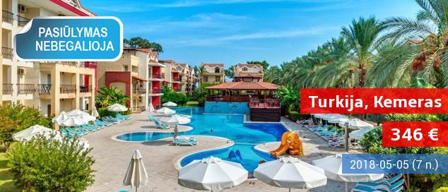 """Šilta gegužė gerame 5* viešbutyje TURKIJOJE! Savaitė su """"ultra viskas įskaičiuota"""" tik nuo 482 EUR. Išvykimo data: 2017 m. gegužės 4 d."""
