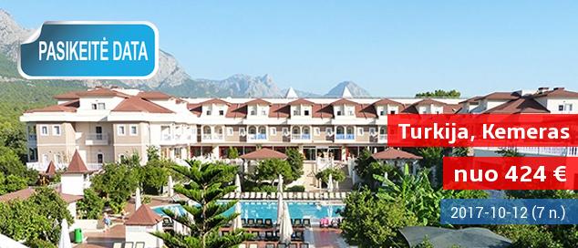 """Vasaros atostogos vaizdingoje pakalnėje TURKIJOJE! Savaitė puikiame 4* viešbutyje su """"viskas įskaičiuota"""" vos nuo 424 EUR. Išvykimo data: 2017 m. spalio 12 d."""
