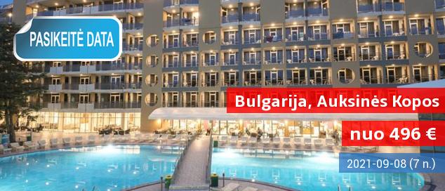 """Pasitikite vasarą BULGARIJOS Auksinių kopų kurorte! Savaitė labai gerame 4* viešbutyje su """"viskas įskaičiuota"""" - vos 505 EUR! Kelionės data: 2017 m. gegužės 17 d."""