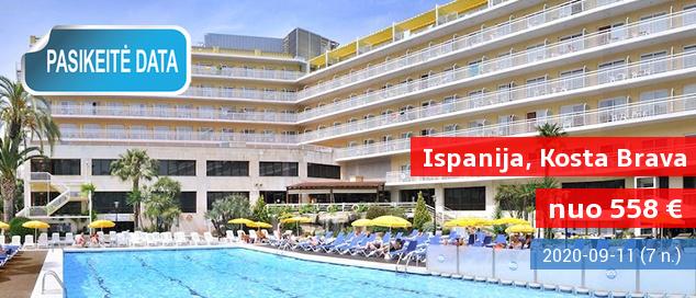 Dėmesio, paplūdimio mėgėjai! Savaitė su šeima gerame 4* viešbutyje ISPANIJOJE su pusryčiais ir vakarienėmis – tik nuo 380 EUR! Kelionės data: 2017 m. birželio 15 d.