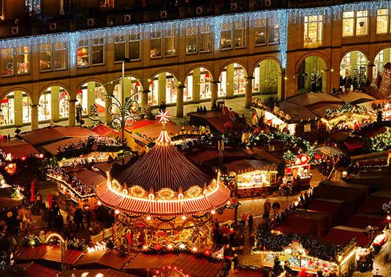 Kalėdinių mugių šurmulys Vokietijoje